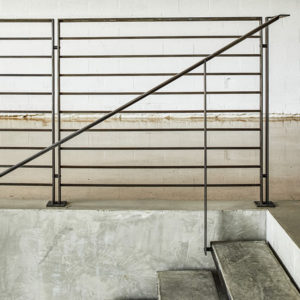 structural steel railings, custom metal fabrication, custom railing, fence custom stairway railing