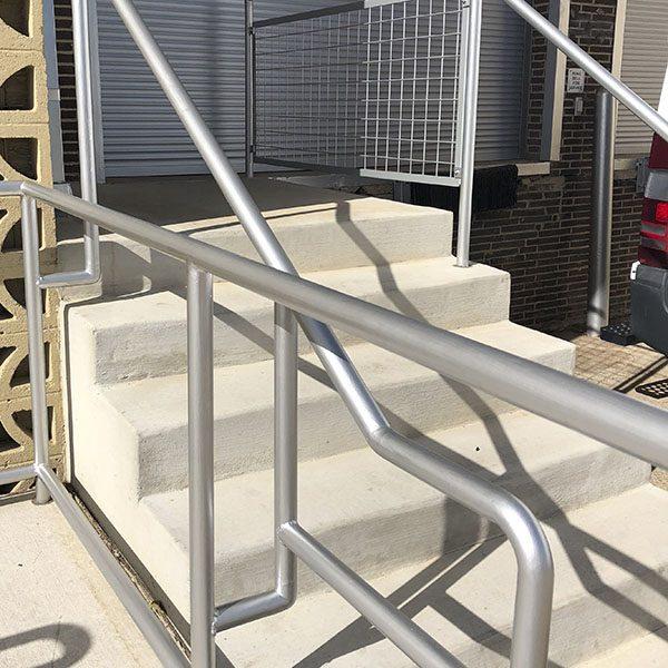 Custom Metal Railing, Custom Hand Rail, custom metal work, metal fabrication, stairs, railing